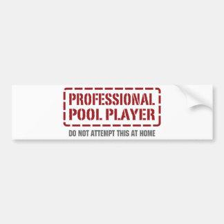 Professional Pool Player Bumper Sticker
