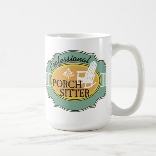 Professional Porch Sitter Logo Coffee Mug