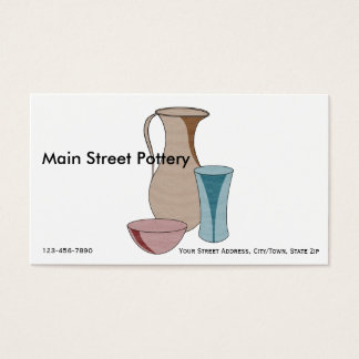 Professional Pottery Studio Business Card