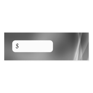 Professional Price Tag Modern Abstract Grey Mini Business Card