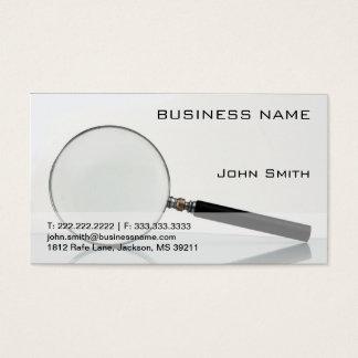 Professional Private Investigator Business Card