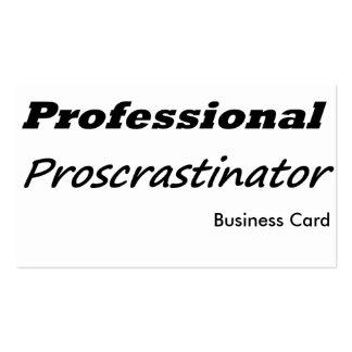 Professional Procrastinator Business Card