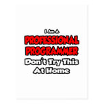 Professional Programmer ... Don't Try Postcards