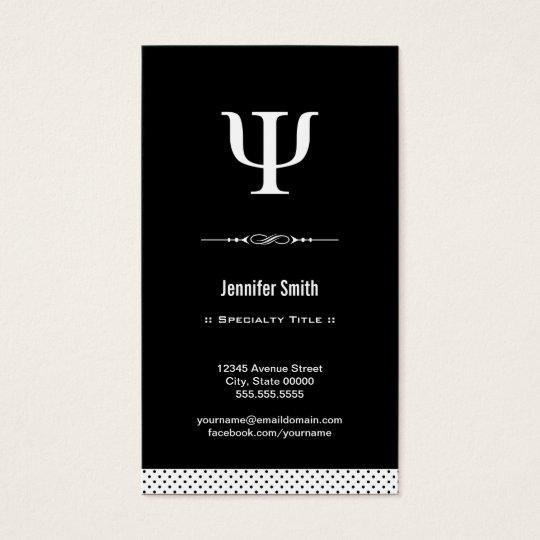 Professional Psychologist Psychology Psi Symbol Business Card