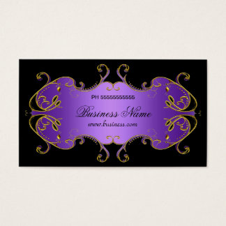 Professional Purple Black Gold Elegant Business Business Card