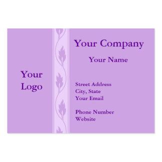 Professional purple leaf business cards