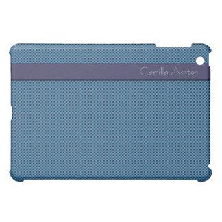 Professional Purple Teal Blue Checks Designer iPad Mini Covers