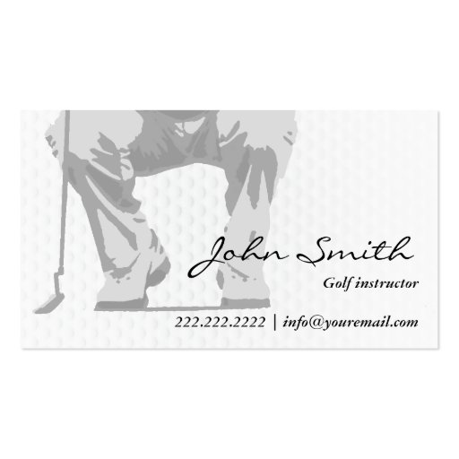 Professional Putt Golf Instructor Business Card