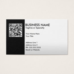Barcode business cards templates zazzle professional qr code business card colourmoves