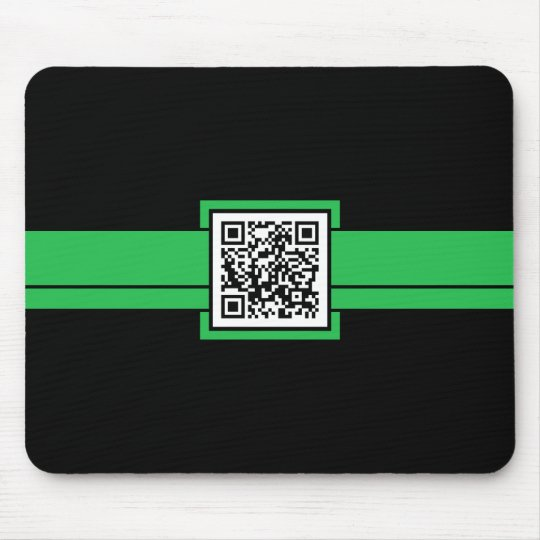 professional QR code : green ribbon Mouse Pad