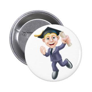 Professional qualification man pinback button