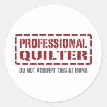 Professional Quilter Round Sticker