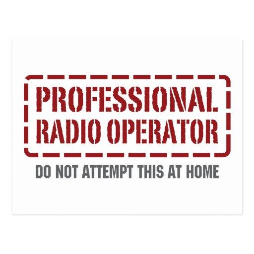 Professional Radio Operator Postcard