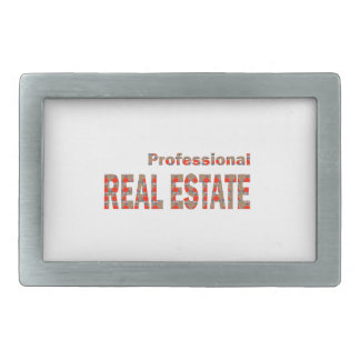 Professional REAL ESTATE House Condo Villa Town Ci Rectangular Belt Buckles