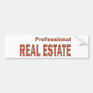 Professional REAL ESTATE House Condo Villa Town Ci Bumper Stickers