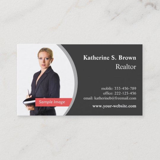 Professional realtor left photo business cards zazzle professional realtor left photo business cards colourmoves