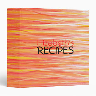 Professional Recipes 3 Ring Binder