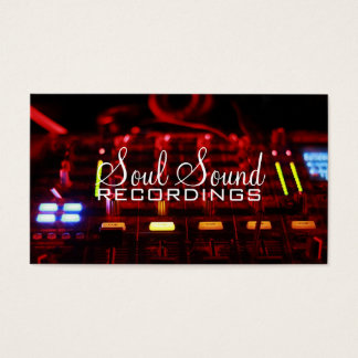 Professional Recording Studio Music Artists Business Card