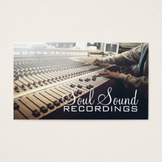 Professional Recording Studio Music Artists Business Card
