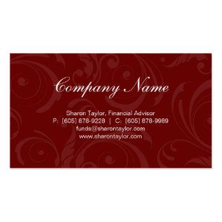 Professional red beige Business Card Swirls