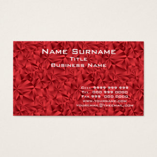 Professional Red Business Card