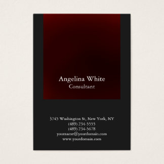 Professional Red Gray Color Background Unique Business Card