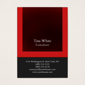 Professional Red Gray Color Striped Unique Business Card