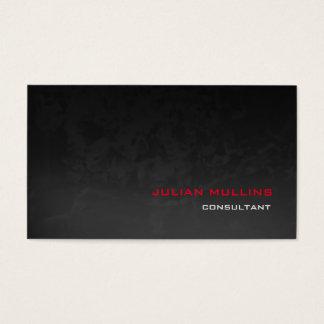Professional Red Grey Pattern Modern Elegant Business Card