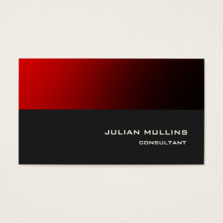 Professional Red Grey Trendy Modern Elegant Business Card