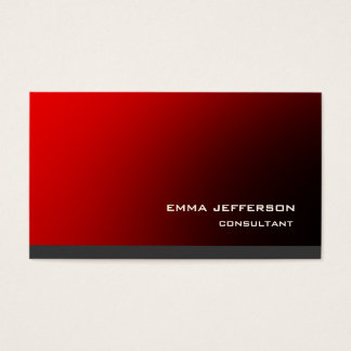 Professional Red Grey Trendy Modern Impressive Business Card