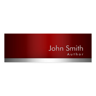 professional Red Metal Author Business Card