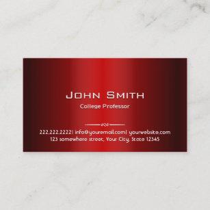 College professor business cards zazzle professional red metal professor business card colourmoves