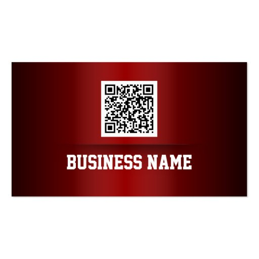 Professional Red Metal QR Code Business Card