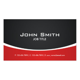 Professional Red Modern Elegant Classy Double-Sided Standard Business Cards (Pack Of 100)