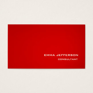 Professional Red Trendy Style Impressive Business Card