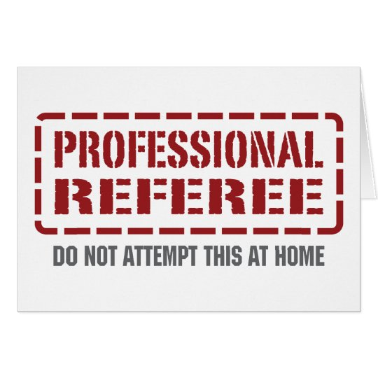 Professional Referee Card