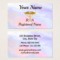 Professional Registered Nurse Opalescent Business Card