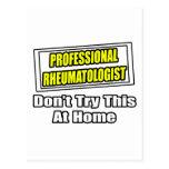 Professional Rheumatologist .. Joke Postcard