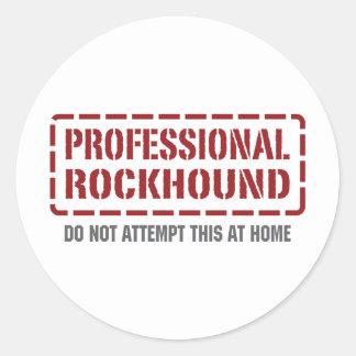 Professional Rockhound Classic Round Sticker