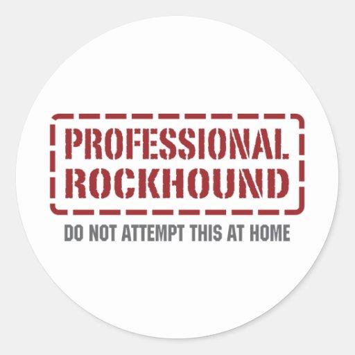 Professional Rockhound Stickers