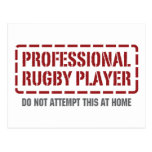 Professional Rugby Player Post Card