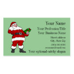 Professional Santa Business Card Standard Business Cards