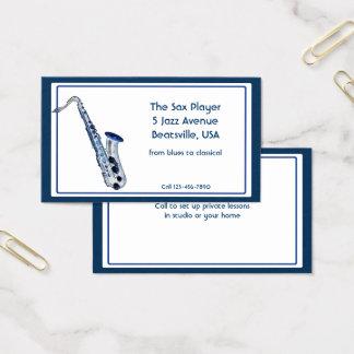 Professional Saxophone Musician and Teacher Business Card
