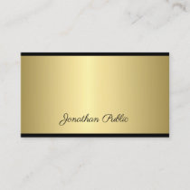 Professional Script Modern Simple Gold Look Glam Business Card