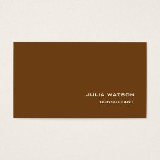 Professional Sepia Brown Modern Trendy Style Business Card