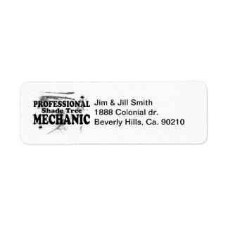 Professional Shade Tree Mechanic Label