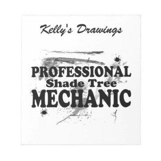 Professional Shade Tree Mechanic Notepad