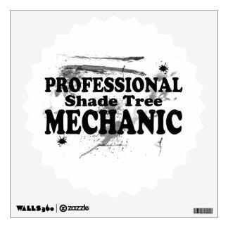 Professional Shade Tree Mechanic Wall Sticker