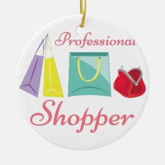 Professional Shopper Ceramic Ornament