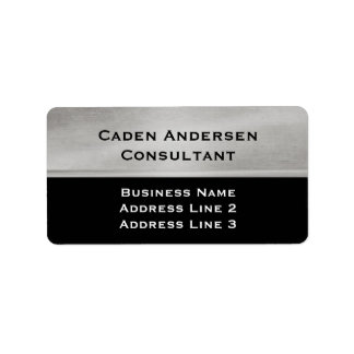 Professional Silver and Black Address Label